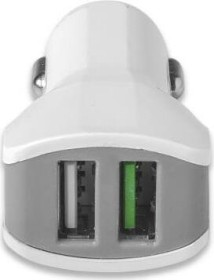 Celly Turbo Car Charger 3.4A weiß (CC2USBTURBOWH)