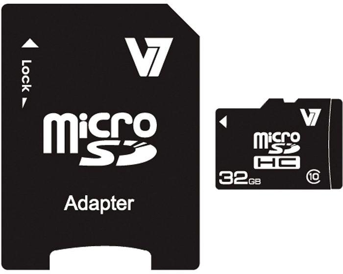 V7 R20 microSDHC 32GB Kit, Class 10 (VAMSDH32GCL10R-2)