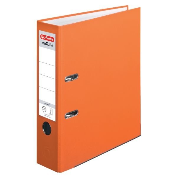 Herlitz maX.file protect Ordner A4 8cm, orange (10556470)