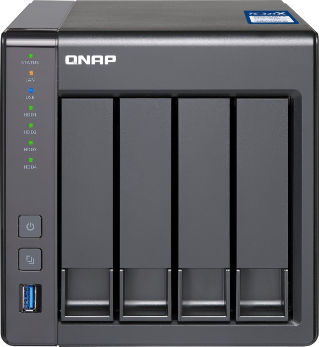 QNAP Turbo station TS-431X-2G 1TB, 1x 10Gb SFP+, 2x Gb LAN