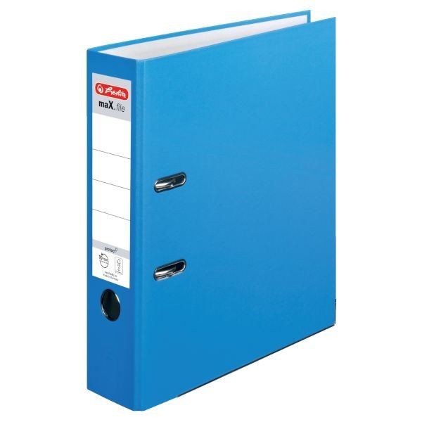 Herlitz maX.file protect Ordner A4 8cm, aqua (10094837)