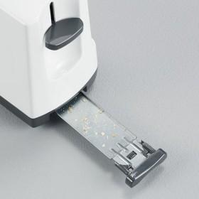 Wei/ß//Grau 1 Langschlitzkammer SEVERIN Automatik-Toaster AT 2232 800 W F/ür bis zu 2 Brotscheiben