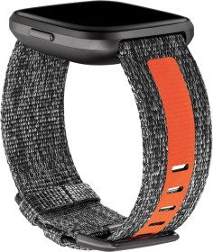Fitbit replacement bracelet fabric for Versa charcoal/orange (FB171WBGYTA)