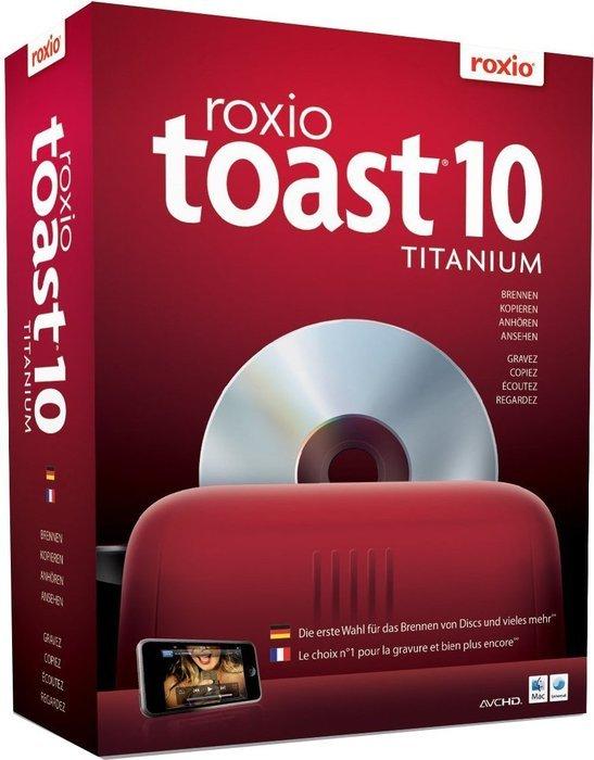 Adaptec/Roxio: Toast 10.0 Titanium (wersja wielojęzyczna) (MAC) (242610EU)