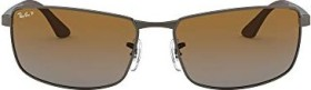 Ray-Ban RB3498 61mm gunmetal/polarized brown (029/T5)