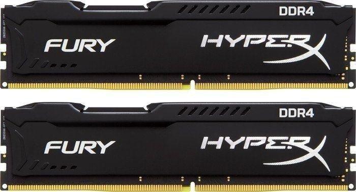 Kingston HyperX Fury schwarz DIMM Kit 16GB, DDR4-2400, CL15-15-15, dual rank (HX424C15FBK2/16)
