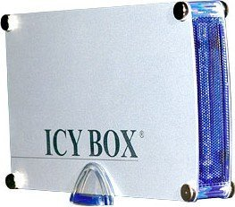 RaidSonic Icy Box IB-351UE-BL silber, USB-B 2.0/FireWire (21355)