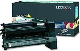 Lexmark Return Toner C7700YH gelb hohe Kapazität