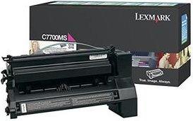 Lexmark Return Toner C7700MS magenta