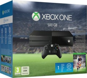 Microsoft Xbox One - 500GB FIFA 16 Bundle schwarz