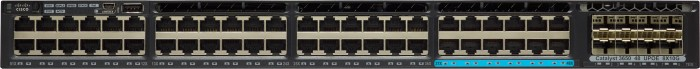 Cisco Catalyst 3650 LAN Base Rackmount Gigabit Managed Stack Switch, 48x RJ-45, 8x SFP+, 660W UPoE (WS-C3650-12X48UR-L)