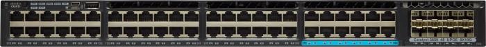 Cisco Catalyst 3650 IP Base Rackmount Gigabit Managed Stack Switch, 48x RJ-45, 8x SFP+, 660W UPoE (WS-C3650-12X48UR-S)