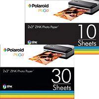 "Polaroid Pogo ZINK photo paper 2x3"", 30 sheets (AZU-03011BE)"