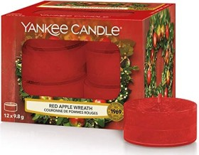 Yankee Candle Red Apple Wreath Teelicht Duftkerze, 12 Stück