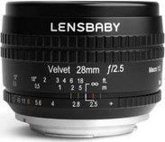 Lensbaby Velvet 28mm 2.5 für Nikon F schwarz