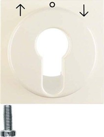 Berker centre plate for blind-key switch/key switch, white shiny (15068982)