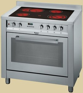 Hotpoint Ariston CP9VP6 DE/HA electric cooker with ceramic hob