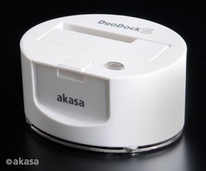 Akasa DuoDock S Dockingstation weiß, USB 3.0 (AK-IC08U3-WH)