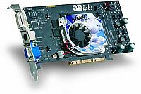 3Dlabs Wildcat VP870, P10, 128MB DDR, DVI, TV-out, AGP