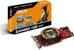 ASUS EAH4850/HTDI/1G, Radeon HD 4850, 1GB DDR3, 2x DVI, TV-out (90-C1CL55-L0UAY00Z)