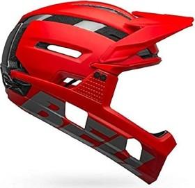 Bell Super Air R MIPS Fullface-Helm matte/gloss red/gray (7113700/7113701/7113702)