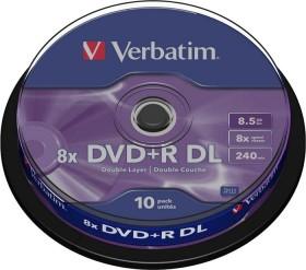 Verbatim DVD+R 8.5GB DL 8x, 10er Spindel (43666)