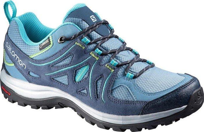 Salomon Ellipse 2 GTX® W-W, Damen Trekking- & Wanderstiefel, Blau - Rainy Blue/Slateblue/Teal Blue F - Größe: 41 1/3 EU