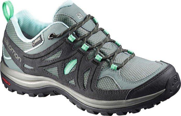 Salomon Damen Ellipse 2 GTX W Trekking-& Wanderhalbschuhe, Mehrfarbig (Light TT/Asphalt/Jade Green 000), 37 1/3 EU