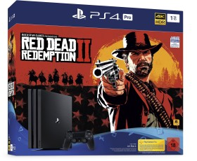 Sony PlayStation 4 Pro - 1TB Red Dead Redemption 2 Bundle schwarz (9760610)