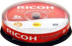 Ricoh DVD+RW 4.7GB 4x, 10-pack Spindle (792614)