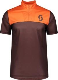 Scott Trail Flow Zip Trikot kurzarm maroon red/orange pumpkin (Herren) (275288-6436)