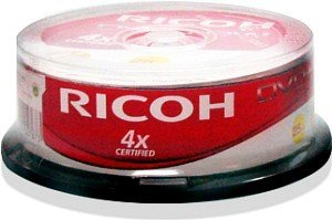 Ricoh DVD+RW 4.7GB 4x, 25-pack Spindle