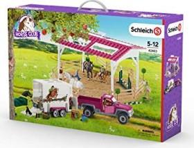 Neu Schleich 42403 Reitschule mit Pick-up und Anhänger 6680159
