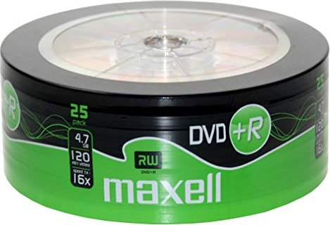 Maxell DVD+R 4.7GB, sztuk 25 -- via Amazon Partnerprogramm