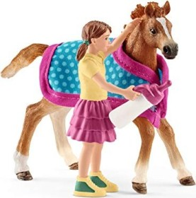 Schleich Horse Club - Playset Foal with blanket (42361)