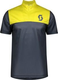 Scott Trail Flow Zip Trikot kurzarm nightfall blue/lemongrass yellow (Herren) (275288-6438)