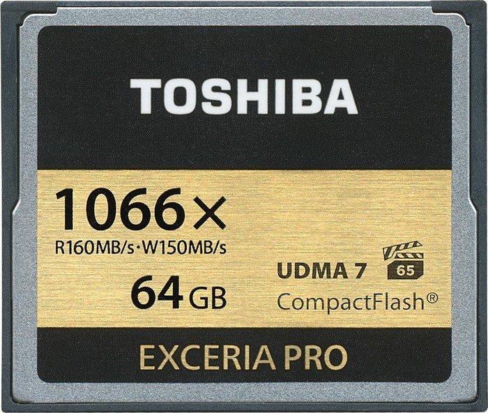 Toshiba Exceria Pro C501 R160/W150 CompactFlash Card [CF] 1066x 64GB (THN-C501G0640E6)