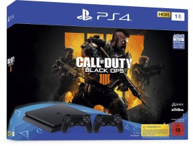 Sony PlayStation 4 Slim - 1TB inkl. 2 Controller Call of Duty: Black Ops 4 Bundle schwarz (9757719)