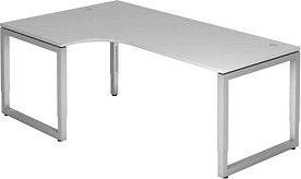 Hammerbacher Ergonomic Plus R-Serie RS82/5, grau, Schreibtisch