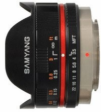 Samyang lens 7.5mm 3.5 fisheye for micro Four Thirds black
