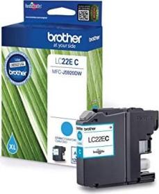 Brother Tinte LC22EC cyan hohe Kapazität