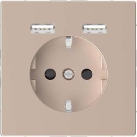 Merten System Design SCHUKO-Steckdose, champagnermetallic (MEG2366-6051)