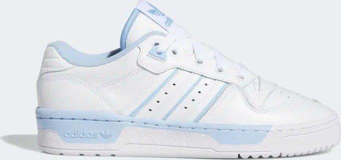 Damen adidas Weiß hellblau Rivalry Low Sneaker