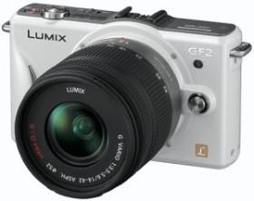 Panasonic Lumix DMC-GF2 weiß mit Objektiv Lumix G Vario 14mm 2.5 (DMC-GF2C)