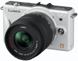 Panasonic Lumix DMC-GF2 (EVIL) white with lens Lumix G vario 14mm 2.5 (DMC-GF2C)