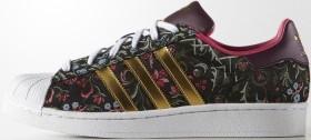 adidas Superstar core black/gold met/merlot (Damen) (B35441)