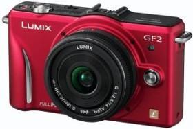 Panasonic Lumix DMC-GF2 rot mit Objektiv Lumix G Vario 14mm 2.5 (DMC-GF2C)