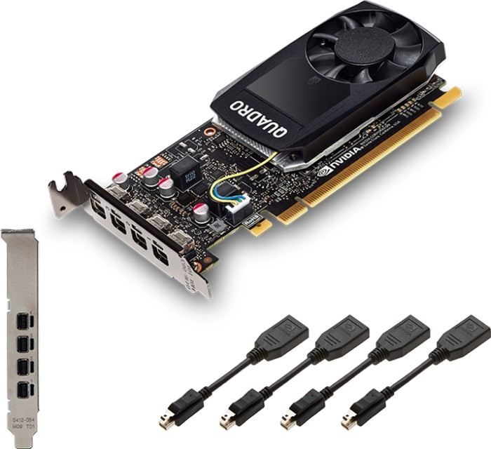 PNY Quadro P1000, 4GB GDDR5, 4x mDP (VCQP1000-PB)