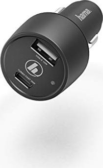 Hama Kfz-Ladegerät USB Typ-C Power Delivery/Quick Charge 3.0 + USB-A 42W schwarz (183323) -- via Amazon Partnerprogramm