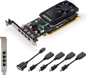 PNY Quadro P600, 2GB GDDR5, 4x mDP (VCQP600-PB)